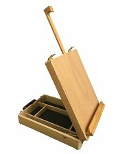 LANGDALE Wooden Beechwood Adjustable Table Top Artist's Box Easel with Storage