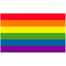Flg007 - Rainbow Pride Flag 3x5 foot poly with grommets / gay lgbt queer pride
