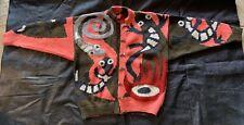 Handknitted aboriginal design cardigan