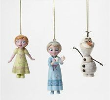 Jim Shore Frozen Elsa Anna Olaf Christmas Ornament Set Disney Traditions