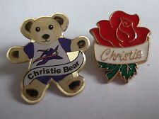 Two Different Badges For Christie