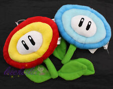 2pcs Super Mario Bros Fire Flower and Ice Flower Plant Soft Plush Toys
