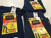 Wrangler Mens Pro Rodeo Jeans  Original Fit Cowboy Cut Denim 29x36,30x38