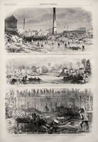 BALTIMORE MARYLAND FLOOD of 1868 Hillen & Harrison Street Ellicott City Disaster