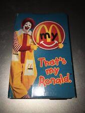 McDonalds : That's My Ronald Cassette Single  RARE