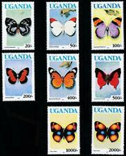 UGANDA 1991 BUTTERFLIES MNH INSECTS