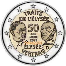 2 EURO COMMEMORATIVO GERMANIA 2013 Trattato Eliseo