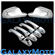08-13 DODGE AVENGER Triple Chrome Mirror+4 Door Handle with Smart Keyhole Cover
