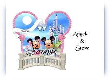 100 Personalized Disney Mickey and Minnie Ears Balcony Wedding Thank You Cards