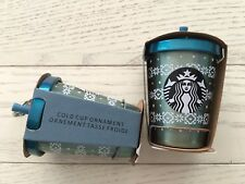 Free Tracking/Th Starbucks 2017 Siren logo keychain Chirstmas Cold Cup ornament