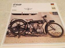 Card Motorbike Zündapp Em 250 1925 Collection Atlas Motorbike Germany