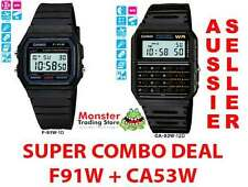 SUPER COMBO DEAL FREE POST FROM SYDNEY CASIO VINTAGE RETRO 1 x F91W + 1 x CA53W