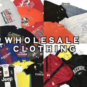 WHOLESALE BULK JOBLOT BRANDED AND VINTAGE CLOTHING FOR RESALE - T-SHIRTS, POLO'S