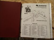 Vintage 1983 to 87 Shimano Fishing REEL parts catalog manual binder