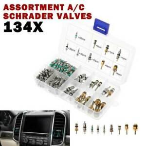 134pcs AC Valve Core Valves&Box for R134A Air Conditioning valves Assortment Set