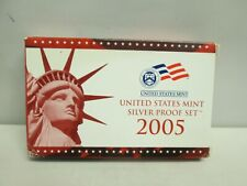 2005 US MINT SILVER PROOF SET WITH BOX AND COA