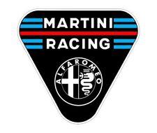 Sticker plastifié ALFA ROMEO MARTINI RACING - 7cm x 6,5cm