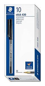 Pack Of 10,Stick 430 M- 9 Medium Ballpoint Pen From Staedtler (0.35mm,Black Ink)