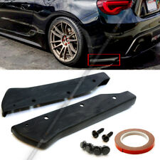 For 12-18 86 BRZ FR-S Unpainted Aero Style Rear Bumper Aprons Add On Lip Spoiler