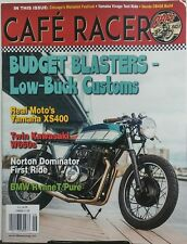 Cafe Racer Aug Sept 2017 Budget Blasters Low Buck Customs BMW FREE SHIPPING sb