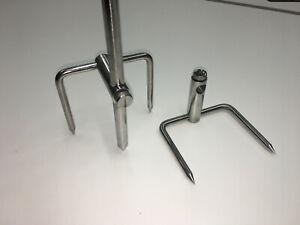 2 x TMC Stainless Steel Bankstick Stabilizer with locking thumb screw.