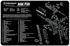 GUN CLEANING GUNSMITH'S BENCH MAT by TEKMAT for HECKLER & KOCH HK P30 9mm PISTOL