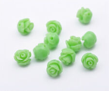10Pcs 8mm Polymer Fimo Coral Flower Rose Carved Loose Bead Fit Jewelry Making