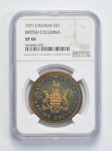 Toned - SP66 1971 - Canada $1 - British Columbia *347