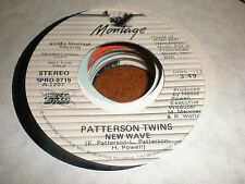 Patterson Twins 45 New Wave MONTAGE PROMO
