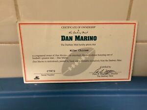 Danbury Mint  -  Miami Dolphins Dan Marino  -   C.O.A