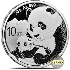 2019 Chinese Panda 30 Gram .999 Silver Round Limited Capsuled Bullion BU Coin