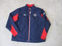 Reebok Florida Panthers Jacket Size Adult Medium Blue Red NHL Hockey Coat Men