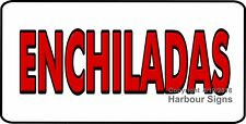 (Choose Your Size) Enchiladas Decal Concession Food Truck Vinyl Sign Sticker
