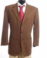 HUGO BOSS Sakko Jacket Da Vinci Gr.26 braun Fischgrät Einreiher 3-Knopf -S593