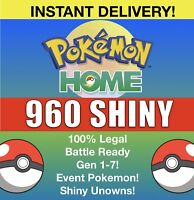 Pokemon Home All 807 SHINY Full Living Dex Completion! FAST Unown & Event