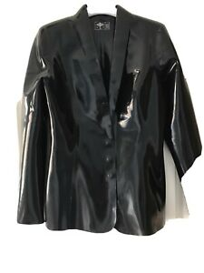 Gorgeous black Libidex ladies single breasted fitted jacket size M...worn once