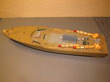 Plastic Toy Boat vintage Rc hull torpedo ship Pt gift Asis parts rebuild Lo