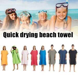 Mit kapuze Strand Surf Poncho Surfen Neoprenanzug Ändern Robe Handtuch V3I5