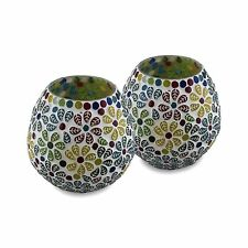 Tea Light Candle Holder for Home Decoration,Moroccan Multicolor Mosaic Glass - 2