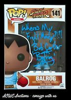 Funko POP! - Street Fighter - Balrog - Signed by Bob Carter - JSA Cerified