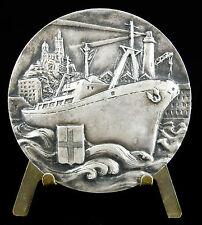 Medaille Bateau Navire Port de Marseill Notre-Dame-de-la-Garde à Elise Quebatte