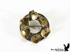 ANTIQUE Sterling Silver Solje Pin Norwegian Collar Lapel Brooch