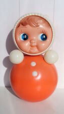 Huge 80's Vintage Russian Nevalyashka Celluloid Plastic Roly Poly Toy Doll 40cm