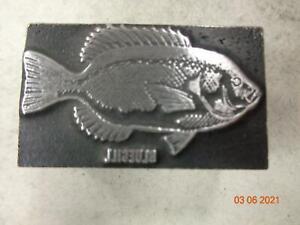 Printing Letterpress Printer Block Decorative Bluegill Fish Print Cut