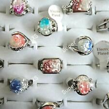 40pcs Abalone Shell Silver Plated Rings Wholesale Jewelry Lots New Free Shipping