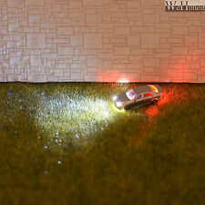12 x Z Scale Model Train Scenery Lighted Cars with Head Lights and Tail Lights