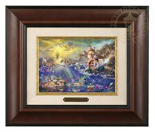 Thomas Kinkade Disney's Little Mermaid Framed Brushwork (Burl Frame)