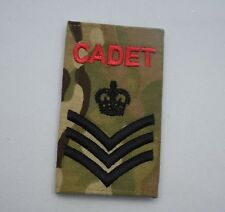 Army Cadet Force ACF Cadet Rank Slide in Multicam MTP - ALL RANKS Sold in Pairs