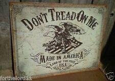 DON'T TREAD ON ME Tin Metal Sign Wall Bar Garage Shop Decor Classic Retro