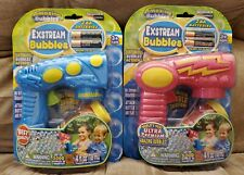Exstream Bubble Gun Lot of 2  Battery Outdoor Toy ages 3+ BRAND New
